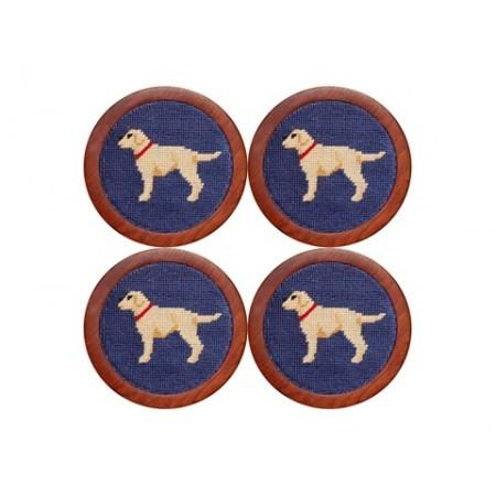 Yellow Lab Needlepoint Coasters - Onward Reserve