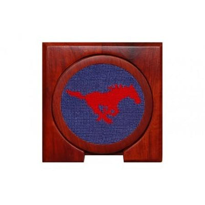 SMU Needlepoint Coasters - OnwardReserve