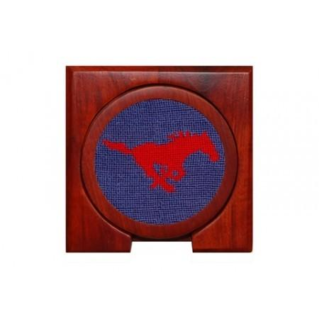 SMU Needlepoint Coasters - Onward Reserve