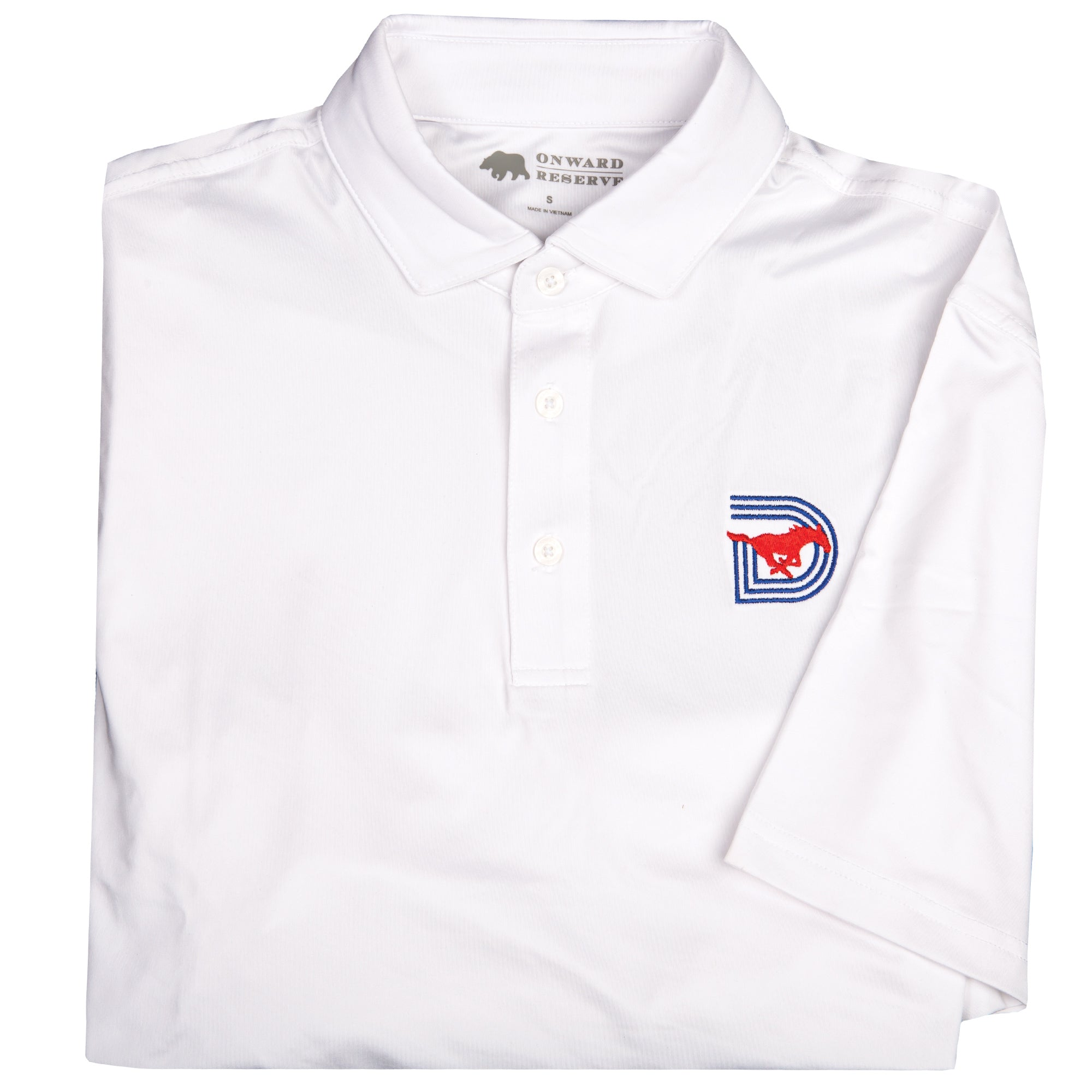 White SMU Triple D Polo - OnwardReserve
