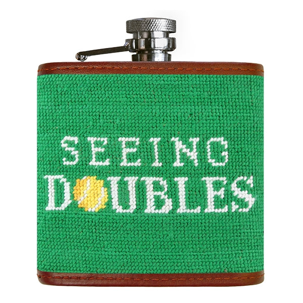 Seeing Doubles Needlepoint Flask