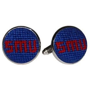 SMU Needlpoint Cufflinks - OnwardReserve