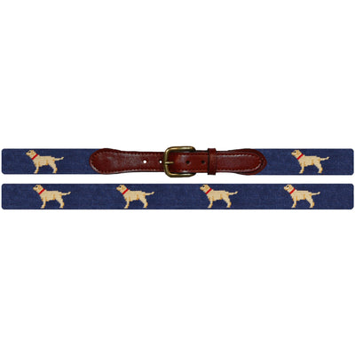 Yellow Lab Needlepoint Belt - OnwardReserve
