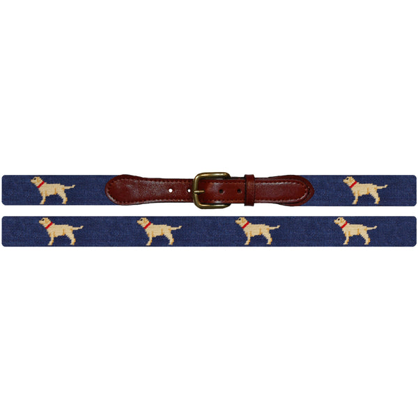 Yellow Lab Needlepoint Belt