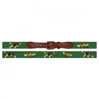 Fox & Hound Needlepoint Belt