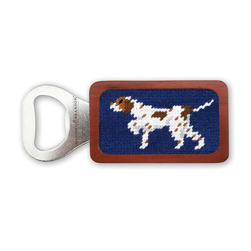 Pointer Needlepoint Bottle Opener - Onward Reserve