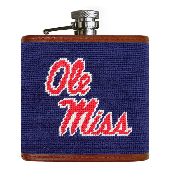 Ole Miss Needlepoint Flask - OnwardReserve