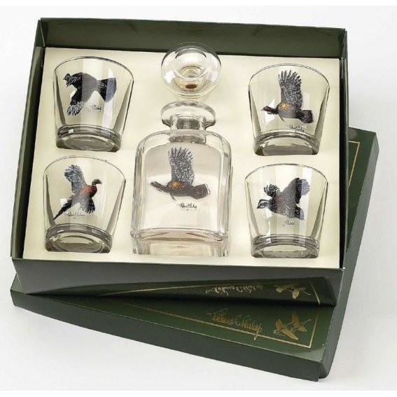 Pheasant Decanter Set