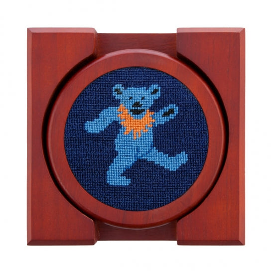 Dancing Bears Needlepoint Coasters