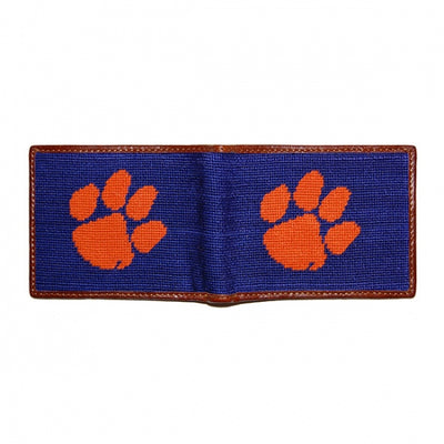 Clemson Needlepoint Bi-Fold Wallet - OnwardReserve