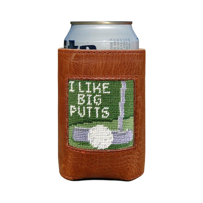 Big Putts Needlepoint Can Cooler
