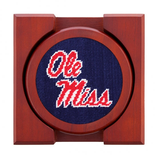 Ole Miss Needlepoint Coasters - Onward Reserve