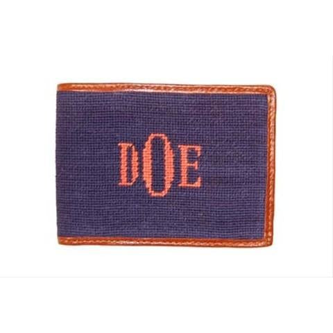 Custom Needlepoint Wallet - Fancy