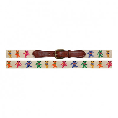 Dancing Bears Needlepoint Belt