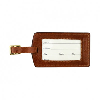 American Flag Needlepoint Luggage Tag