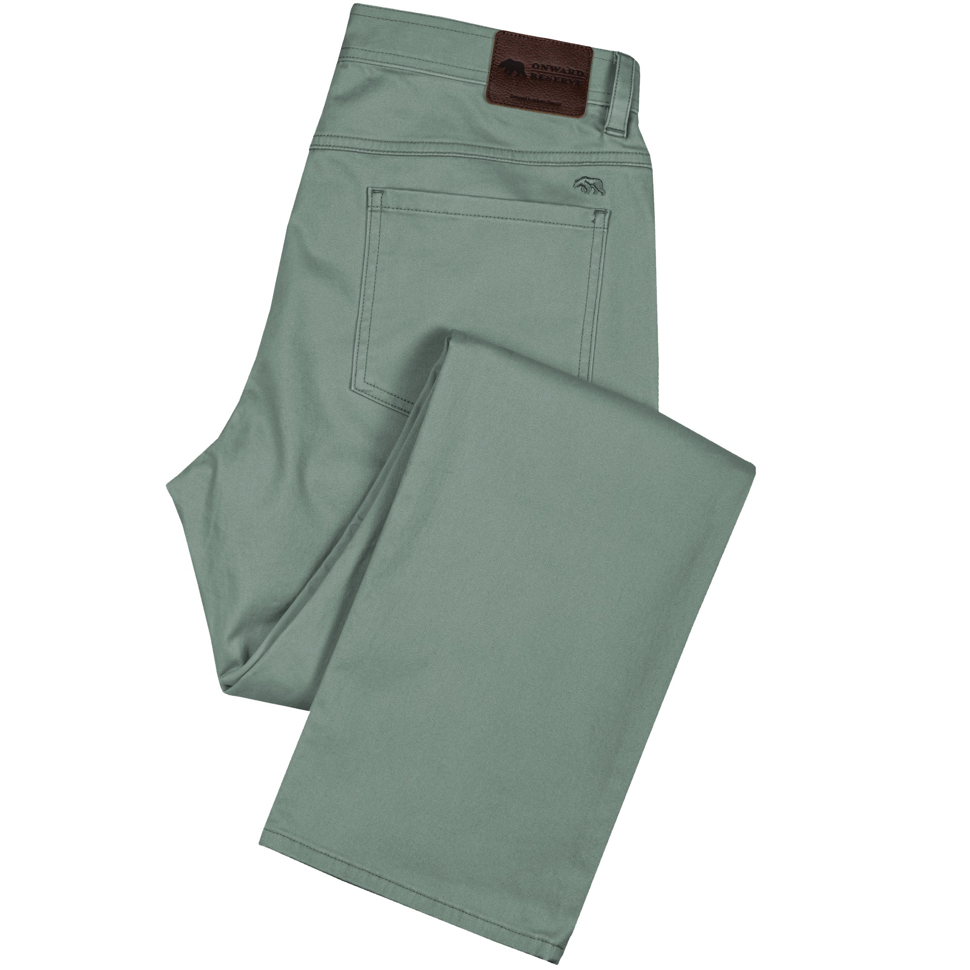 Five Pocket Stretch Pant Bentgrass Green