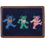 Dancing Bears Needlepoint Credit Card Wallet - OnwardReserve