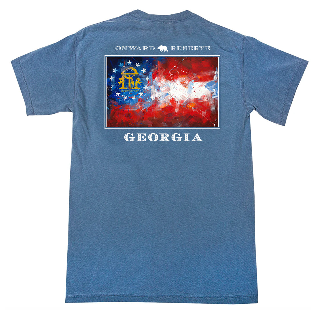 Georgia Flag Short Sleeve Tee