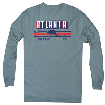 Atlanta Stripes Long Sleeve Tee