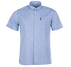 Blue Linen Short Sleeve Button Down