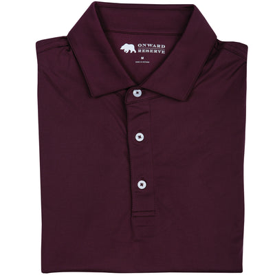 Solid Performance Polo - Maroon - OnwardReserve