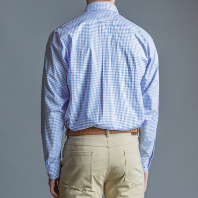 Lilac Check Classic Fit Stretch Cotton Button Down - OnwardReserve