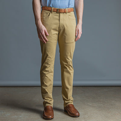 Five Pocket Stretch Pant British Khaki