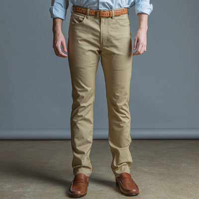 Performance Five Pocket Stretch Pant Tan - OnwardReserve