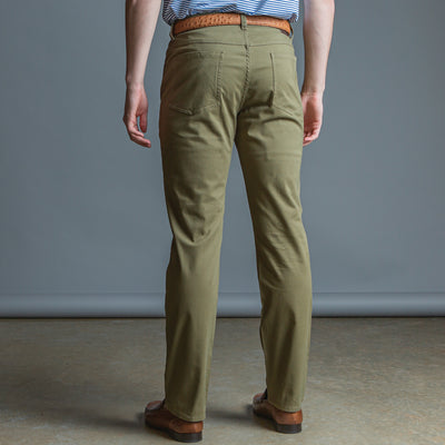 Five Pocket Stretch Pant Olive - OnwardReserve