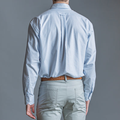 Sky Stripe Classic Fit Performance Oxford Button Down - OnwardReserve