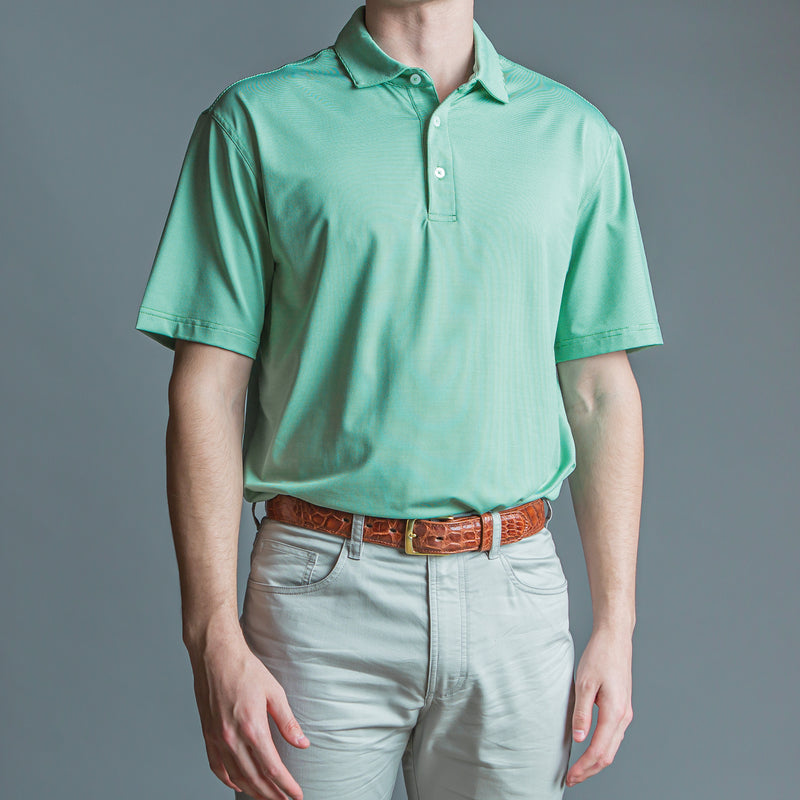 Hairline Stripe Performance Polo Green - OnwardReserve
