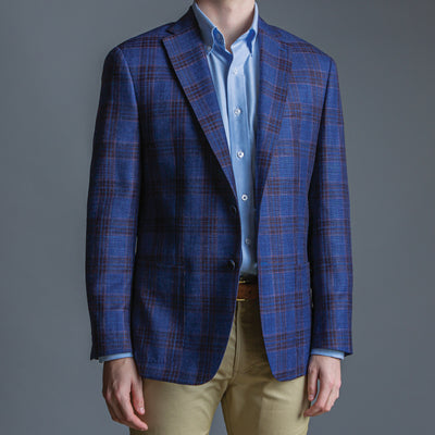Loro Piana Summertime Blue Plaid Sport Coat - OnwardReserve