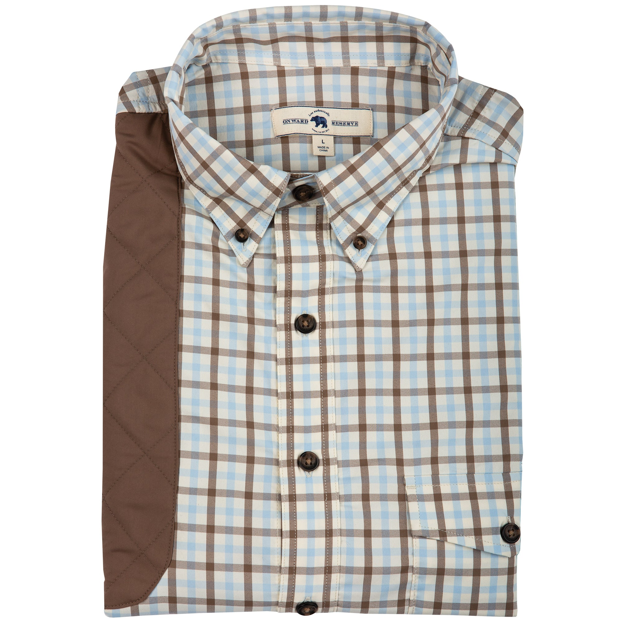 Sky Plaid Performance Shooting Shirt