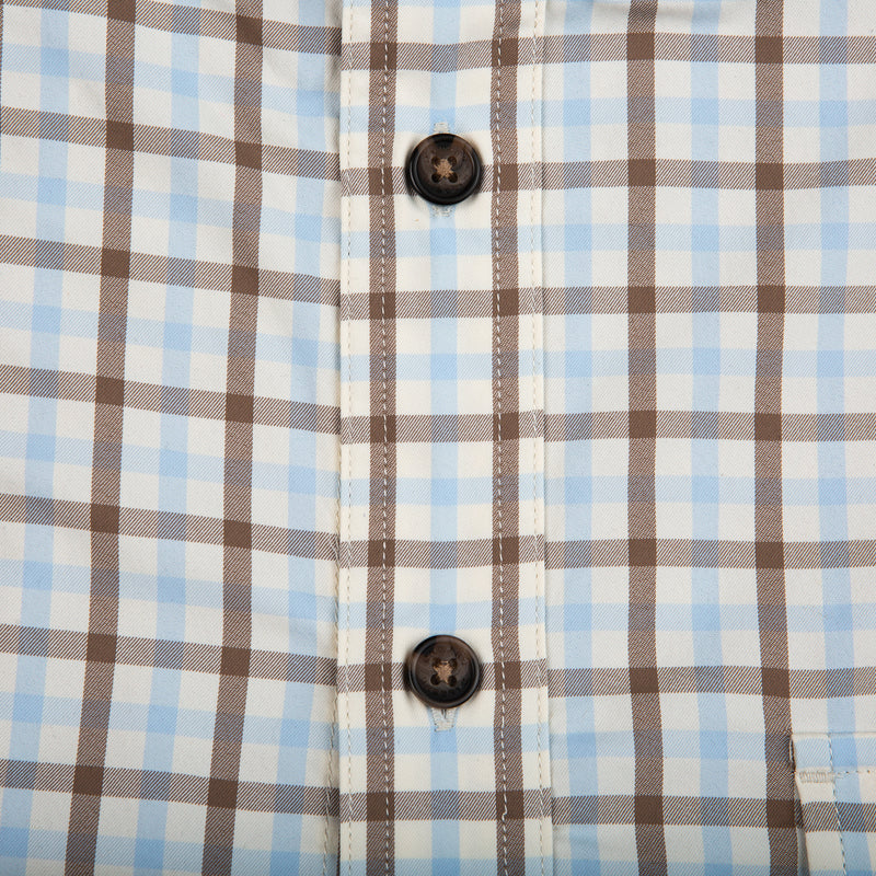 Sky Plaid Performance Shooting Shirt - OnwardReserve