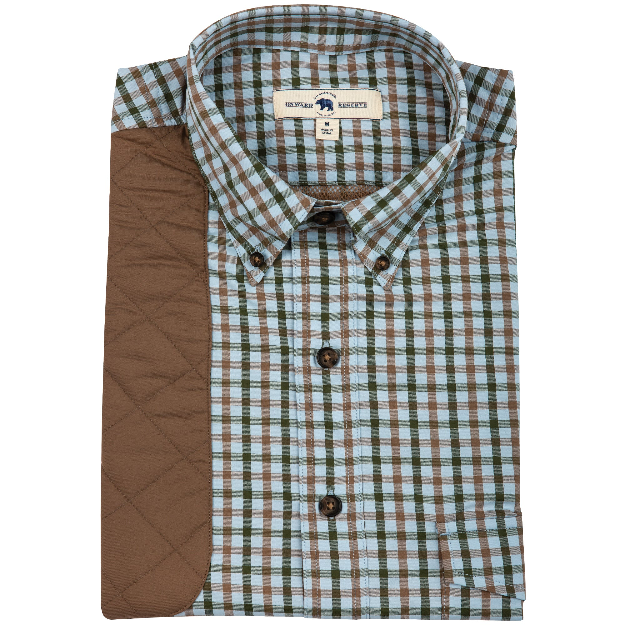 Forest Plaid Performance Shooting Shirt