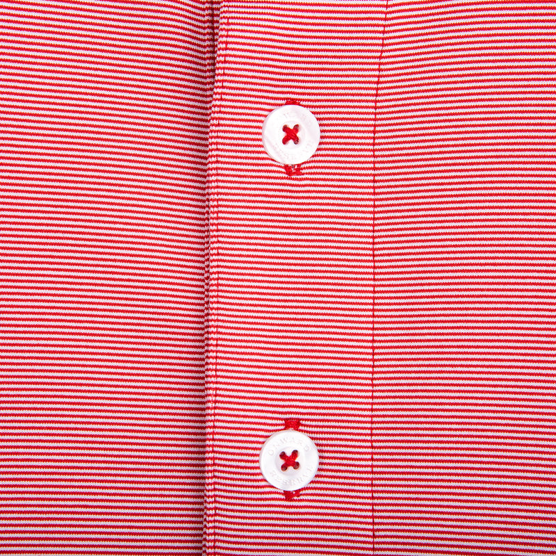 Hairline Stripe Performance Polo - Red - OnwardReserve