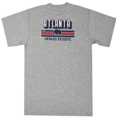 Atlanta Stripes Short Sleeve Tee