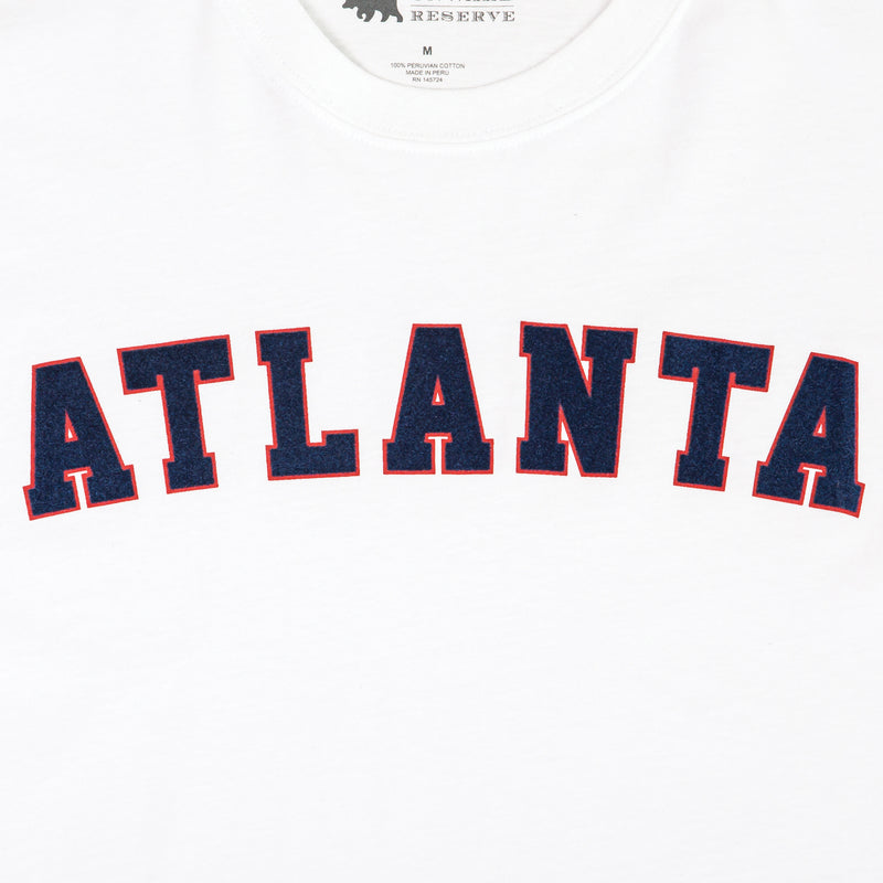 Atlanta Flocked Collegiate Short Sleeve Tee