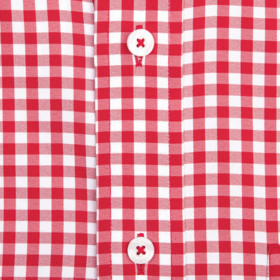 Red Gingham Classic Fit Performance Button Down