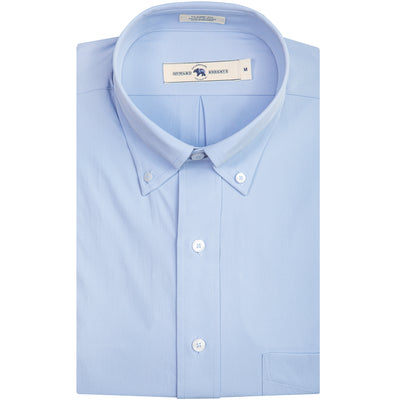 Solid Sky Blue Classic Fit Performance Button Down