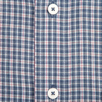Navy Check Classic Fit Performance Twill Button Down