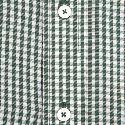 Green Gingham Classic Fit Performance Twill Button Down