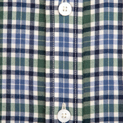 Green Plaid Tailored Fit Performance Twill Button Down