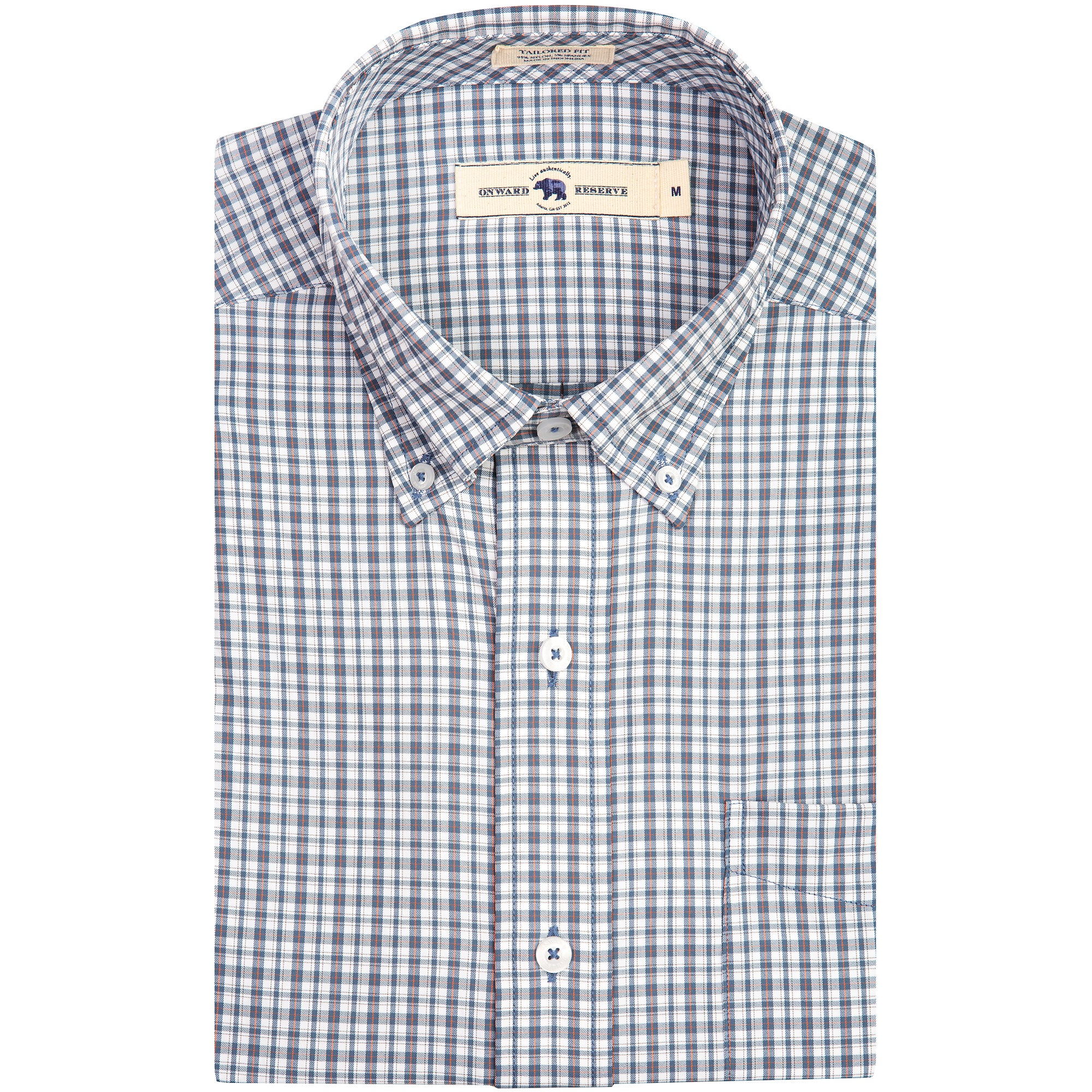 Mitchell Tailored Fit Performance Button Down