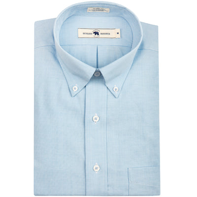 Solid Sky Classic Fit Performance Oxford Button Down - OnwardReserve