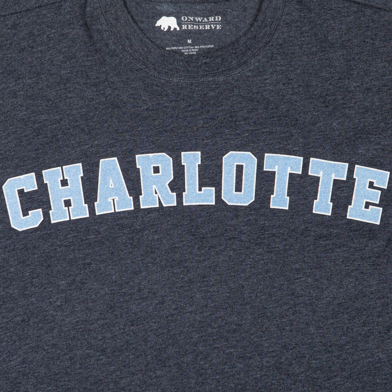 Charlotte Flocked Collegiate Short Sleeve Tee