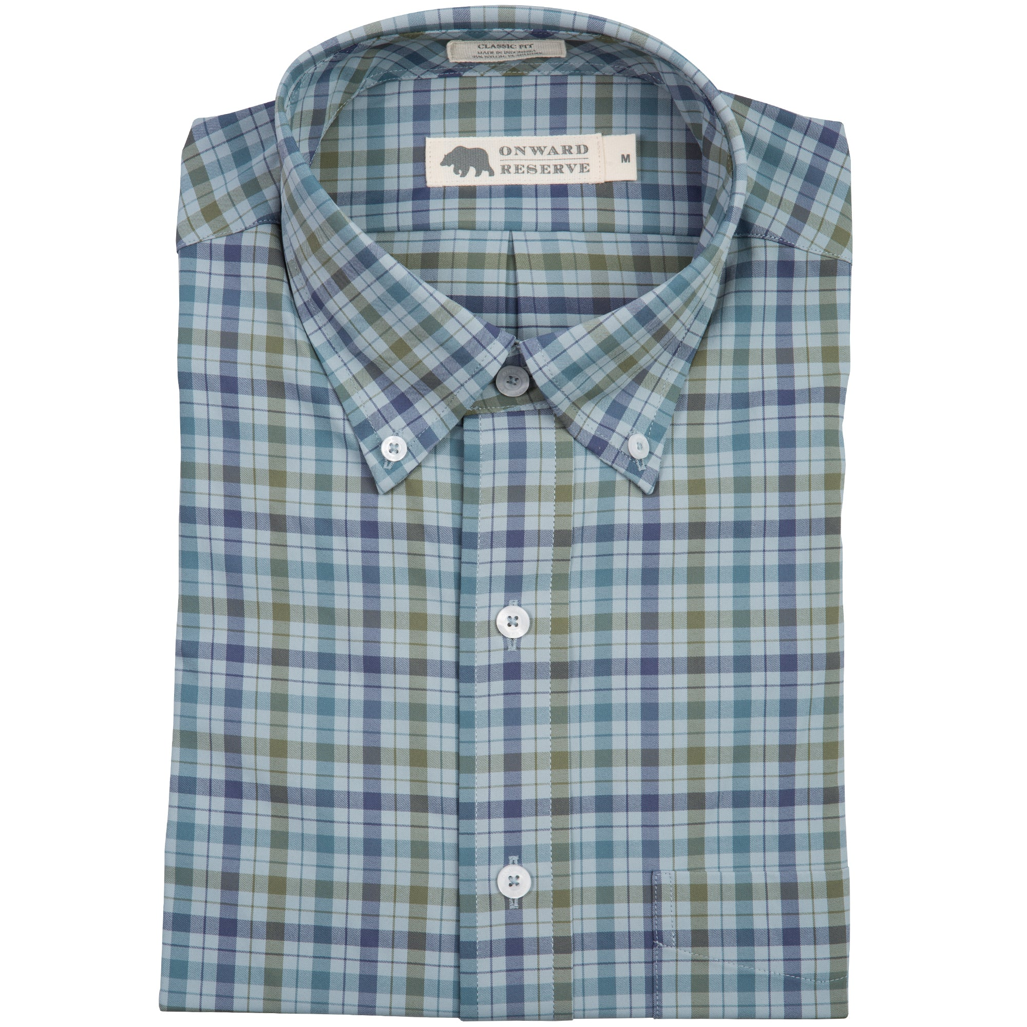 Green Brier Classic Fit Performance Button Down - OnwardReserve