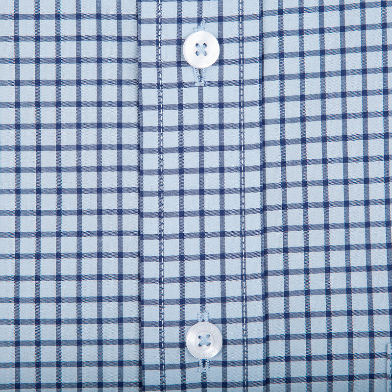 Sky Tattersall Classic Fit Stretch Cotton Button Down - OnwardReserve