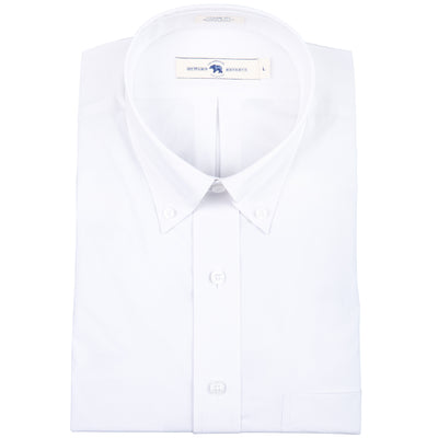 White Classic Fit Stretch Cotton Button Down - OnwardReserve