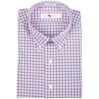 Red Plaid Classic Fit Stretch Cotton Button Down - OnwardReserve